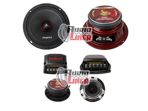 PROFILE PM6C SET DE MEDIOS 6.5 420 WATTS MAX 2 VÍAS