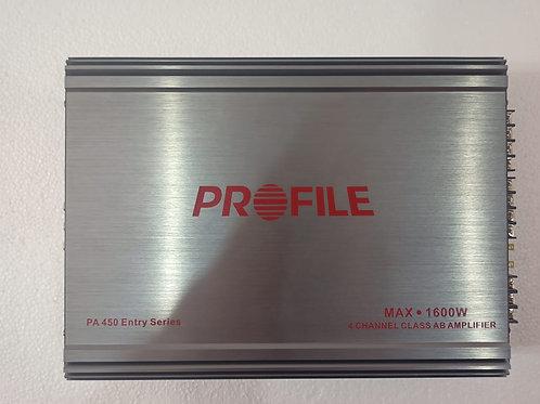 Amplificador Profile Pa-450 4 Canales 1600w Max