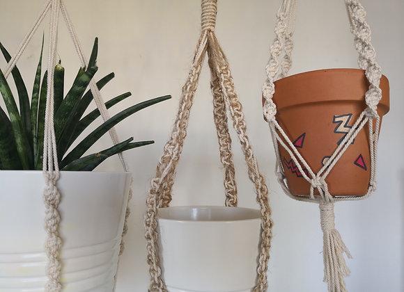 Small Plant hanger - Cotton + Jute blend