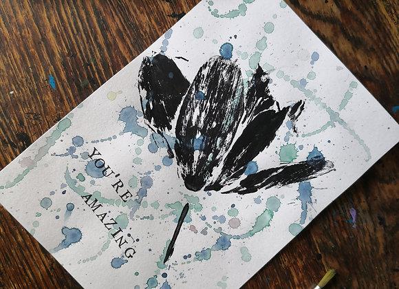 'You're amazing' natural print A5 artwork