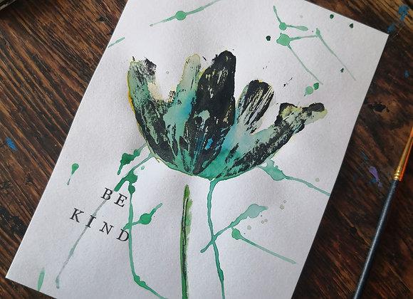'Be kind' Tulip print