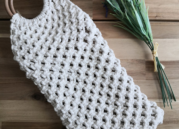 Macrame bag - recycled cotton