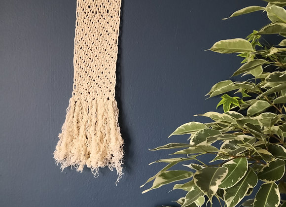 Mini macrame wall hanging - natural 2mm cotton