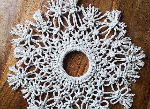Large snowflake wall hanging