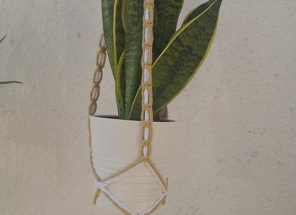 Pre-dyed cotton macrame plant hanger (120cm - half knot)