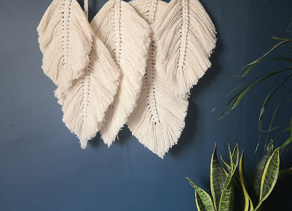 'Freedom' - Macrame feather wall hanging