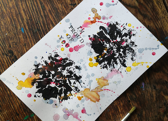 'I'm proud of you' natural print A5 artwork