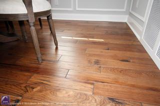 Hickory hardwood floor