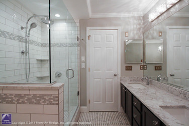 Green Brook master bathroom