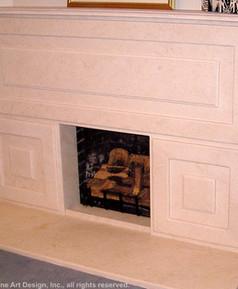 Jerusalem Gold marble fireplace