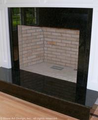 Pocono Green granite fireplace