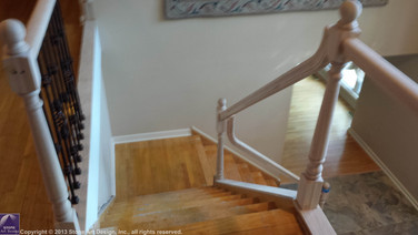 Stair railing replacement