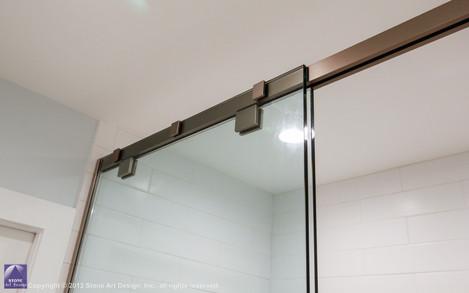soft close sliding shower glass
