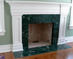Empress Green marble fireplace surround