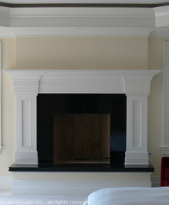 Black Absolute fireplace surround