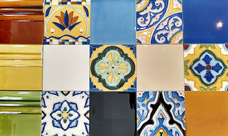 hand painted ceramic tiles