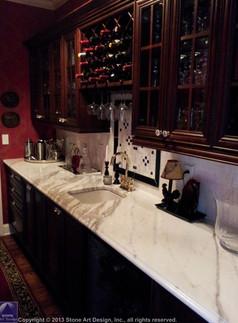 Calacatta Gold marble countertop