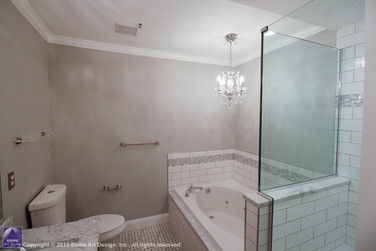 Green Brook master bathroom