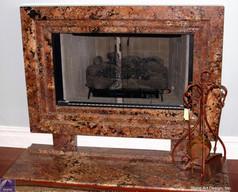 Cabernet granite fireplace surround