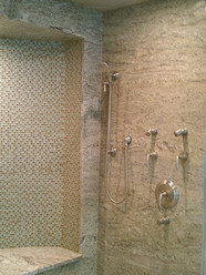 shower granite slab walls