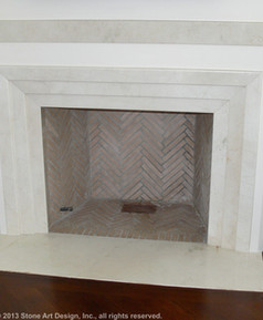 Crema Marfile marble fireplace surround
