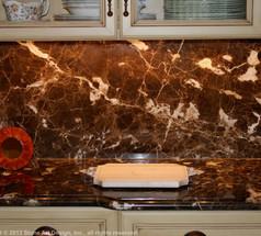 Emperador Dark marble countertop
