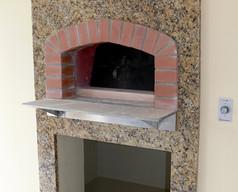New Venetian Gold granite fireplace surround