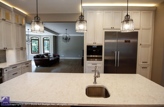 Kitchen cabinetry and counters