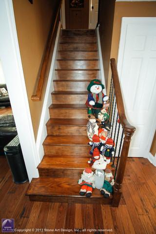 Hickory hardwood stair treads