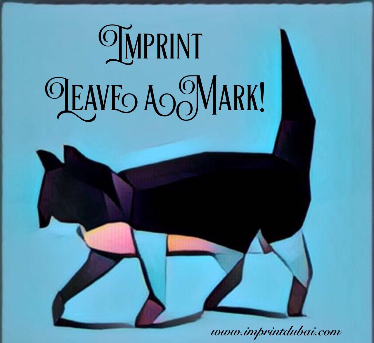 Imprint Blue Cat Leave A Mark