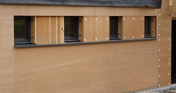 maison ossature bois, isolation en fibres de bois
