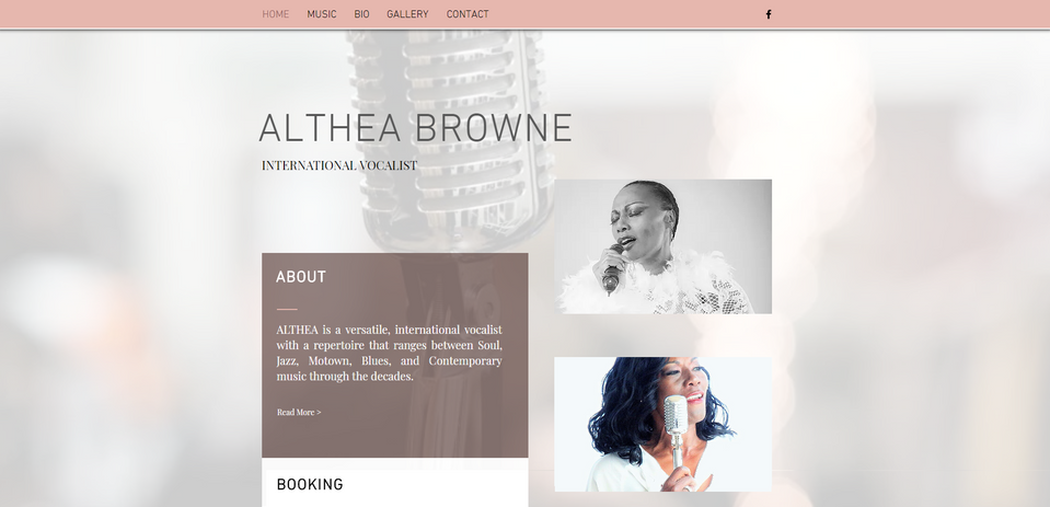 Althea Browne, International Vocalist