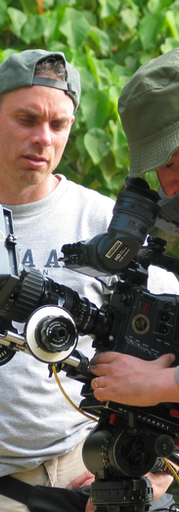 Film Director Terry Benedict in Okinawa, Japan, on set of The Conscientious Objector.