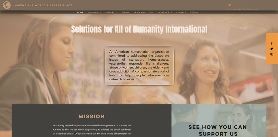 Solutions For All Of Humanity International, Making the World a Better Plce