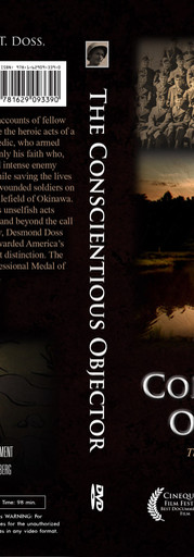 The Conscientious Objector BlueRay back and front covers