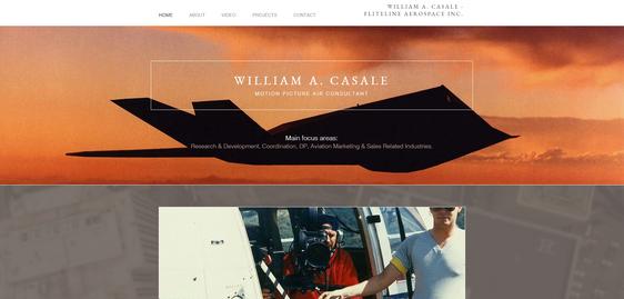 William A. Casale, Fliteline Aerospace Inc., Motion Picture Air Consultant