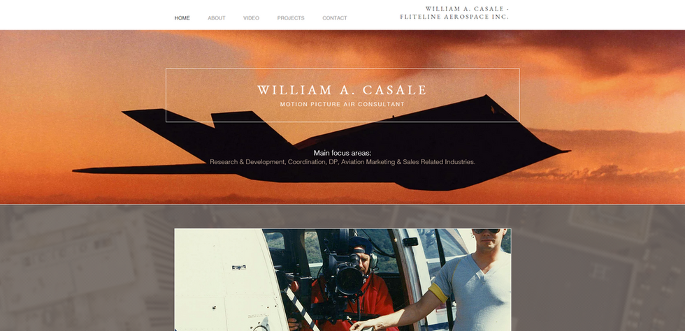 William A. Casale, Motion Picture Air Consultant
