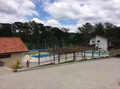 Área das piscinas
