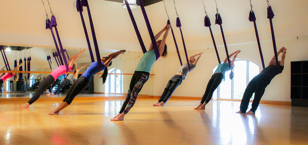 Yoga Patch offers Aerial Hammock classes in Kansas City