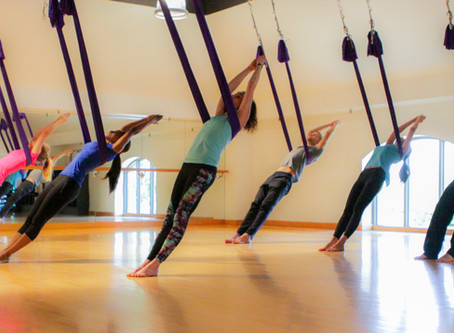 Aerial Hammock Classes at Yoga Patch Offer Something for Everyone
