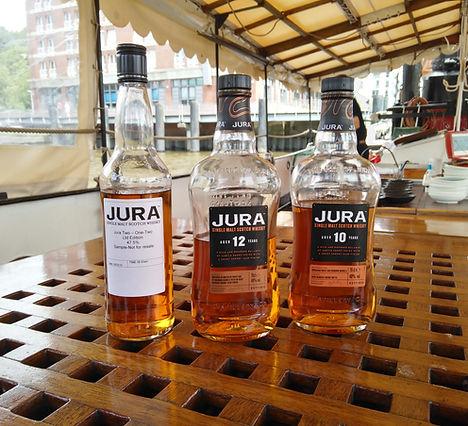 Jura-Tasting im Hafen von Övelgönne