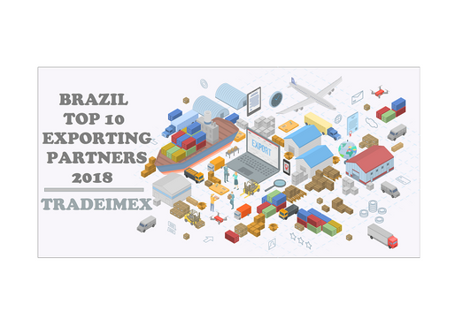 Top 10 Brazil Exporting Partners - 2018