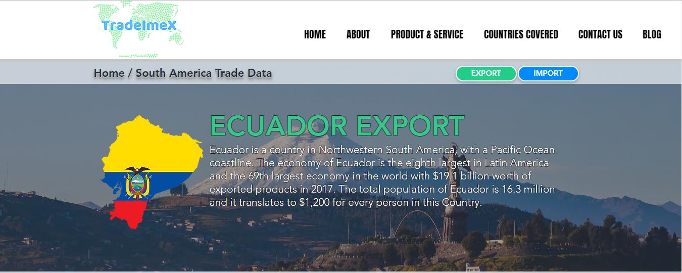 Ecuador Export Data | Ecuador Trade Data | Ecuador Export