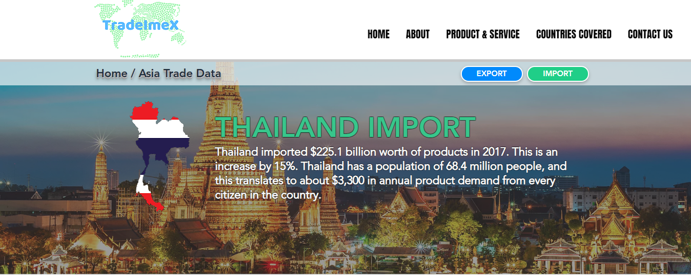 Thailand Import Data   Thailand Import Statistics  Thailand
