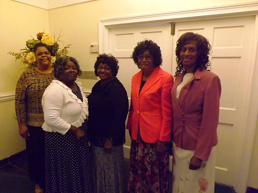 Sister Patti Lewis, Sister Clementine Mobley, Sister Eugenia Lott, Sister Carrie Watson, and Sister Jessie Lott