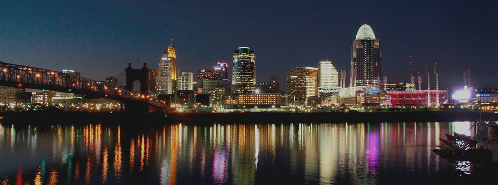 Cincinnati River View Skyline