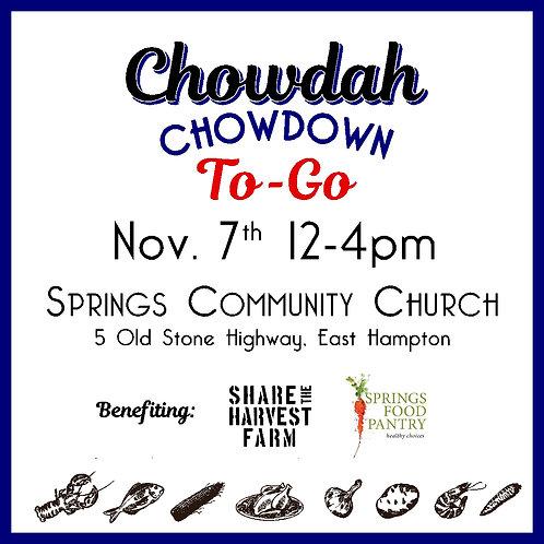 Springs Chowdah Chowdown 2020 Ticket