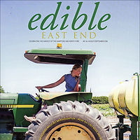 Edible East End cover of farmer on tractor
