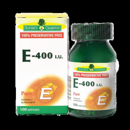 Nature's Champion Vitamin E-400IU