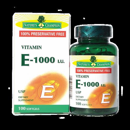 Nature's Champion - Vitamin E-1000IU